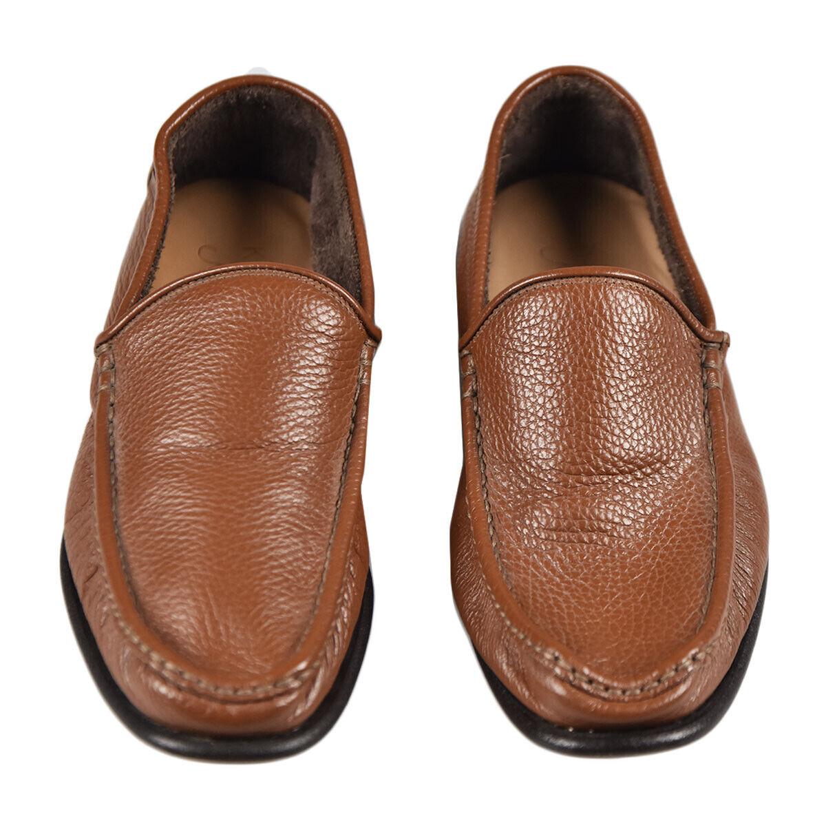 Nuevos Mocasines zapatos zapatos zapatos 100% Cuero Kiton Sz 7 US 40 EU 19O131A 21f6fc