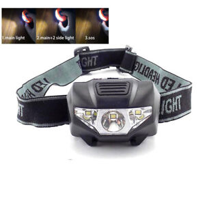 High power mini Headlamp small led head light torch lamp AAA battery for camping