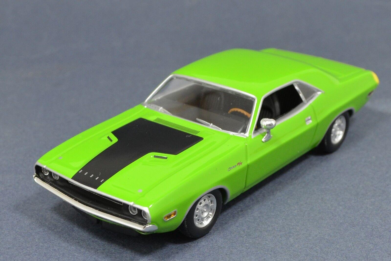 1 43 Dodge Challenger R t 1970 verde Muscle Car Minichamps 400144700 Muy Raro