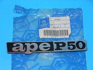 184867 TARGHETTA PIAGGIO APE P50
