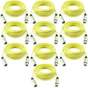 10 M Mikrofonkabel Gelb Xlr Male Auf Xlr Female Kabel, Leitungen & Stecker Dmx Mikrofon Kabel Adam Hall