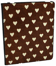 $450 BURBERRY Prorsum Brown Black Leather Calfhair HEART iPad Tablet Cover Case