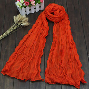 Colorful-Women-s-Soft-Wrinkle-Long-Crinkle-Scarf-Shawl-Candy-9-Colors-New