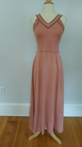 1970's VINTAGE 70's RONCELLI Wool Blend Maxi Dress