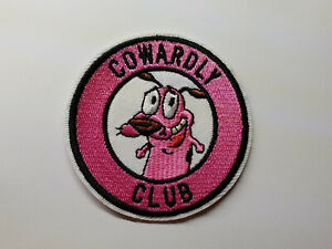 COURAGE-THE-COWARDLY-DOG-CLUB-iron-on-or-sew-on-Patch-cartoon-TV-show