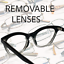 CAT-EYE-Eyeglasses-BAMBI-034-Ombre-034-Women-Tortoise-BLACK-Gradient-Shadz-GAFAS thumbnail 5