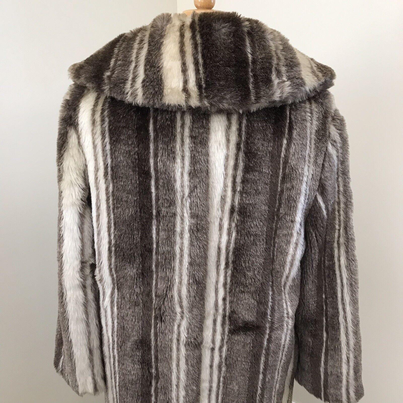Vintage faux fur coat coat coat Brown & Cream ff9ff9