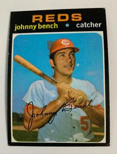 1971 Johnny Bench # 250 Cincinnati Reds Topps Baseball Card HOF