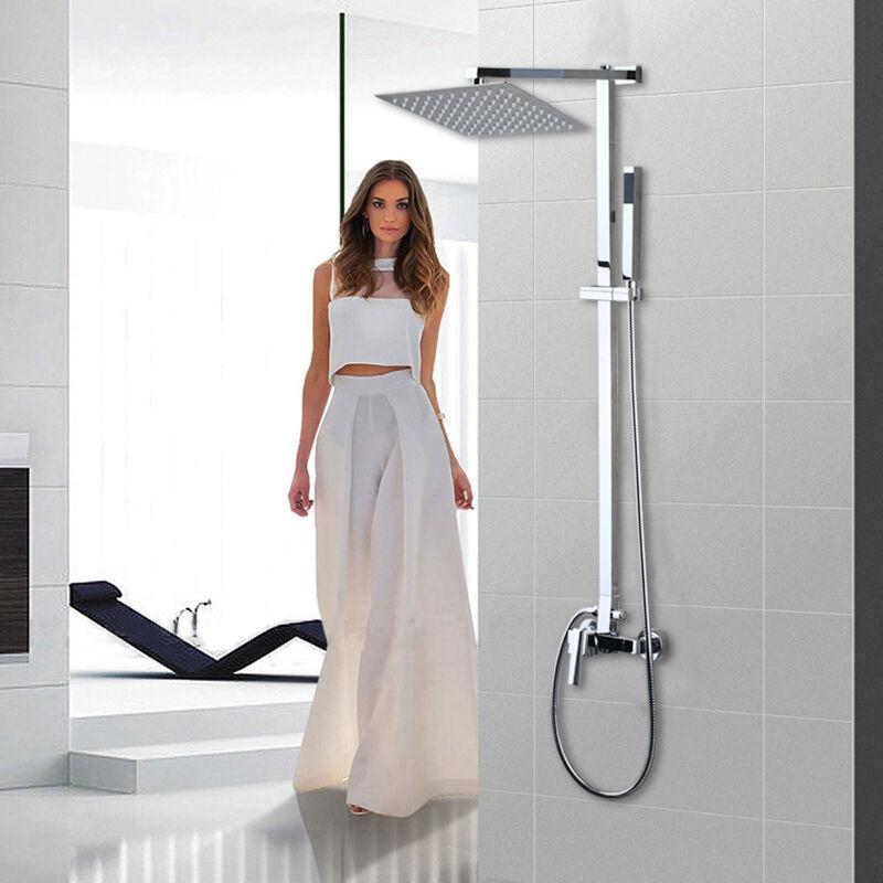 DE 8 Messing Badezimmer Dusche Regenfall Mauer Montiert Mischbatterie | Fein Verarbeitet  | Einfach zu spielen, freies Leben  | Luxus  | Professionelles Design