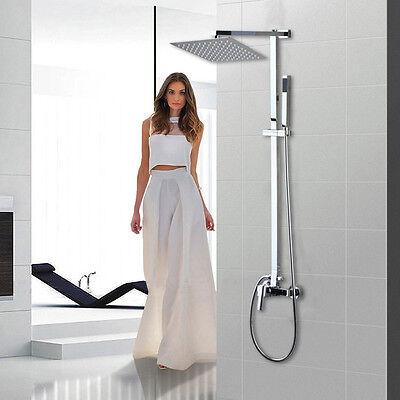 """8/"""" Bathroom Rain Shower Faucet  Valve Mixer Hand Sprayer Wall Mount Tap Set"""