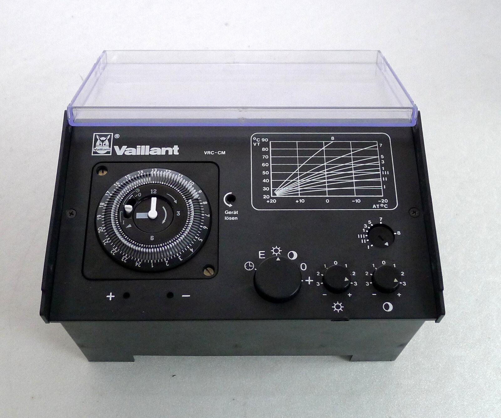 Vaillant Vaillant Vaillant VRC-CM Regler schwarz mit optionaler Uhr Garantie Inzahlungnahme 34ebcb