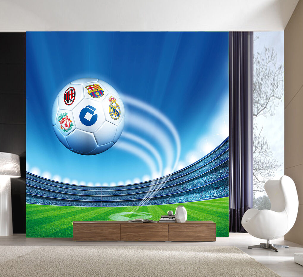 3D Lovely football Wall Paper Wall Print Decal Wall Deco Indoor Wall Murals