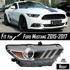 Fit 2015 2017 Ford Mustang Headlight Hid Led Tube Projector Passenger Right Side Fits Mustang