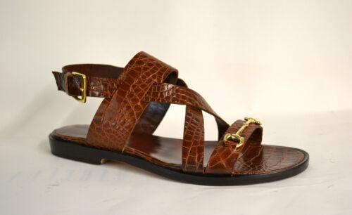 Artisanat Chaussures femmes de brun cuir Sandales 100 noix imprimé véritable en coco cuir pour aYnw6qB