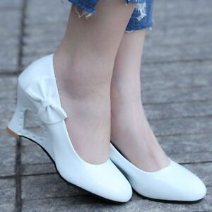 Ladies-Stiletto-High-Heels-Shoes-Women-039-s-Strange-Heart-Thick-Heel-Pumps-Footwear