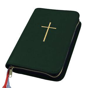 Buchhülle Gotteslob Hülle Gotteslobhülle Kunst Leder Grün Dunkelgrün Mit Kreuz In Gold