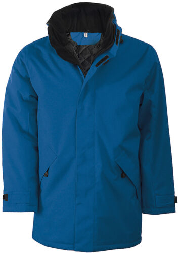 K677 Kariban Men/'s Parka Padded Jacket Adult Blank Plain Coats Winter Jackets