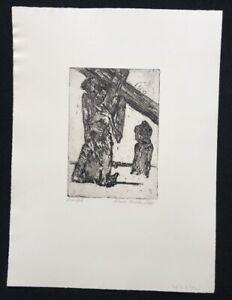 Hilmar Friedrich, Croce caso, acquaforte, 1962, firmato a mano e datata