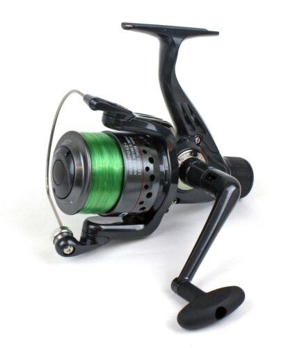 spinning Lineaeffe Gunship 030 Rear Drag Reel /& line All Purpose Sea Fishing