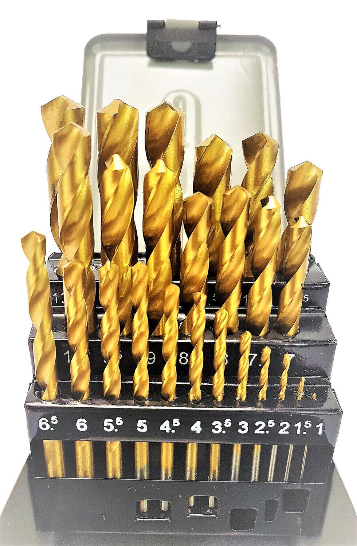 13 x SPIRALBOHRER BOHRER HSS STAHL TITAN NITRIERT 1,5-6,5 mm Twist Drill Set