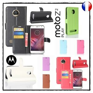 Etui-housse-coque-Cuir-PU-Leather-Wallet-Case-Cover-MOTOROLA-Moto-Z2-Play