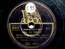78 GIRI  QUARTETTO CETRA LA LEGGENDA DI RADAMES - MAL DI TESTA ITALY 1944