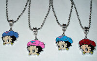Betty Boop With A Hat Charm On Stainless Steel Chain Made In The Usa