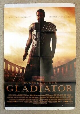 "GLADIATOR MOVIE POSTER PRINT RUSSELL CROWE WHAT WE DO IN LIFE 24/""x36/"" NEW"