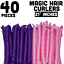 thumbnail 1 - 40-Pcs-Spiral-Hair-Curlers-Premium-Quality-Ringlets-With-Zipper-Bag-Storage