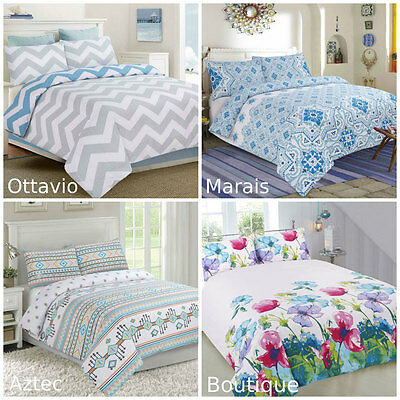 APARTMENTO Chevron Doona/Duvet/Quilt Cover Set Single Double Queen King Size Bed