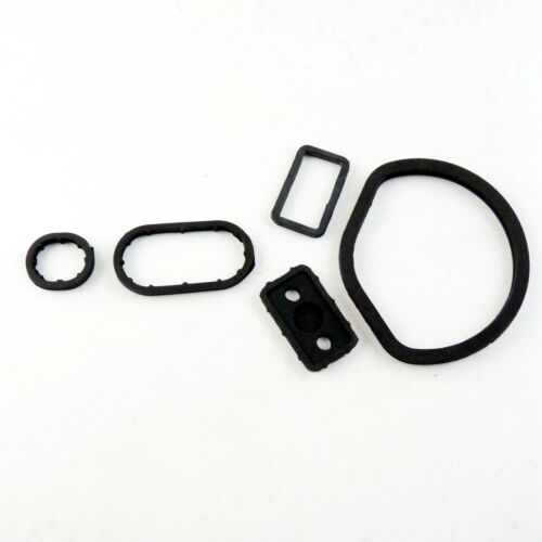 5Pcs Engine Oil Cooler Seal Ring Gasket Set Fit For Benz W163 W202 W203 1121840361
