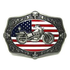 United Stated Flag Motorcycle Belt Buckle Biker Skull Men Vintage Western Cowboy