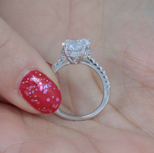3Ct Pear 925 Sterling Silver CZ Engagement Ring Wedding Band Size 2.5-15 ML6368