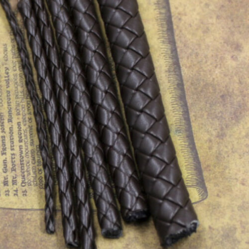 5m Bolo Braided Round Leather Cord 3 4 5 6 mm Black Brown Color Bracelet String