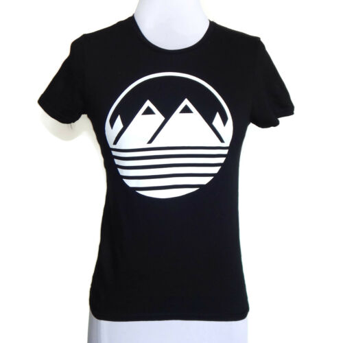 Mountain Logo Twin Peaks Black T-Shirt Tee size XS