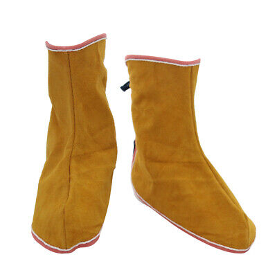 1 Pair Welding Spats Safety Boot Flame//Heat//Abrasion Resistant Cowhide