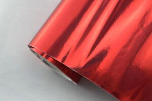 100 x 152 cm flex Auto Klebe Folie selbstklebend 11€//m² CHROM FOLIE ROT