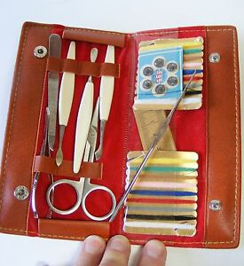 Image Is Loading Vtg Manicure Nail Grooming Set 6 Piece Sewing