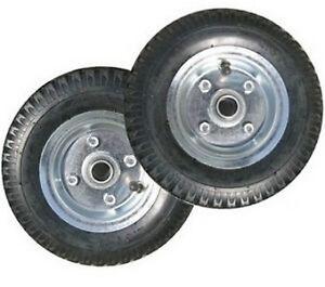 lot 2 roues gonflable pneu roulement diable brouette remorque 20cm 200kg neuf ebay. Black Bedroom Furniture Sets. Home Design Ideas