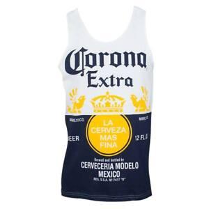 CORONA-Beer-Label-Mens-Tank-Top-Brand-New-Authentic-S-2XL