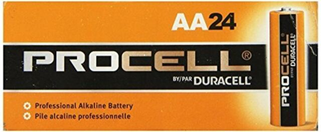 NEW DURACELL PROCELL AA 1.5V ALKALINE BATTERIES 72 pack! 3x24 EXP in 2025