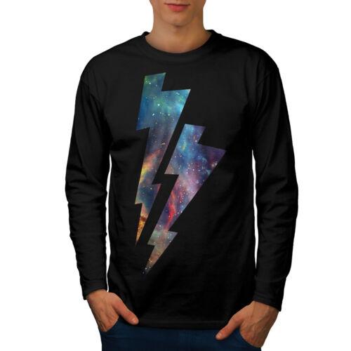 Lo spazio Thunder Uomo Manica Lunga T-shirt Nuovewellcoda