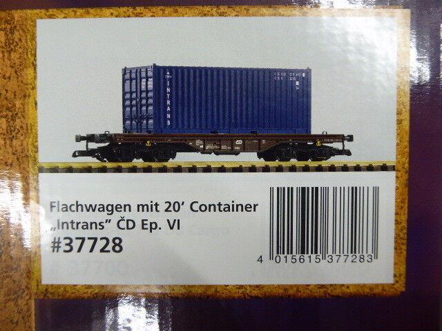 Piko 37728 g Cochero plana con contenedor de intrans CD época VI, nuevo en el embalaje original