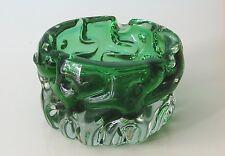 Pavel Hlava Green Glass Ashtray, Novy Bor.