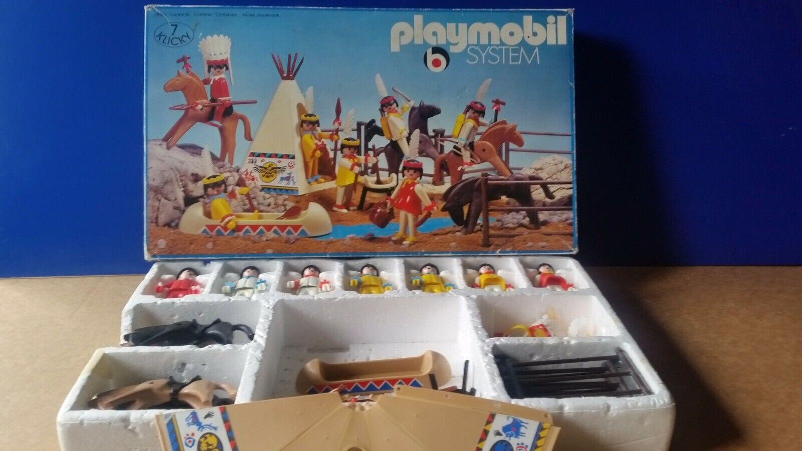 Playmobil system 3406 Indianer Super Set MIB Western alt klicky 1976