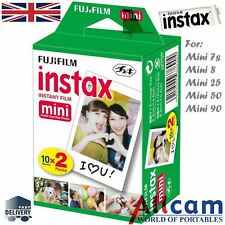 New Fuji Instax Mini Film for Fujifilm Mini 8 7s & Mini 90, 50 Cameras 20 photos