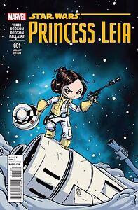 NEW MARVEL STAR WARS  #1 PRINCESS LEIA SKOTTIE YOUNG VARIANT REGULAR SET//2 2015
