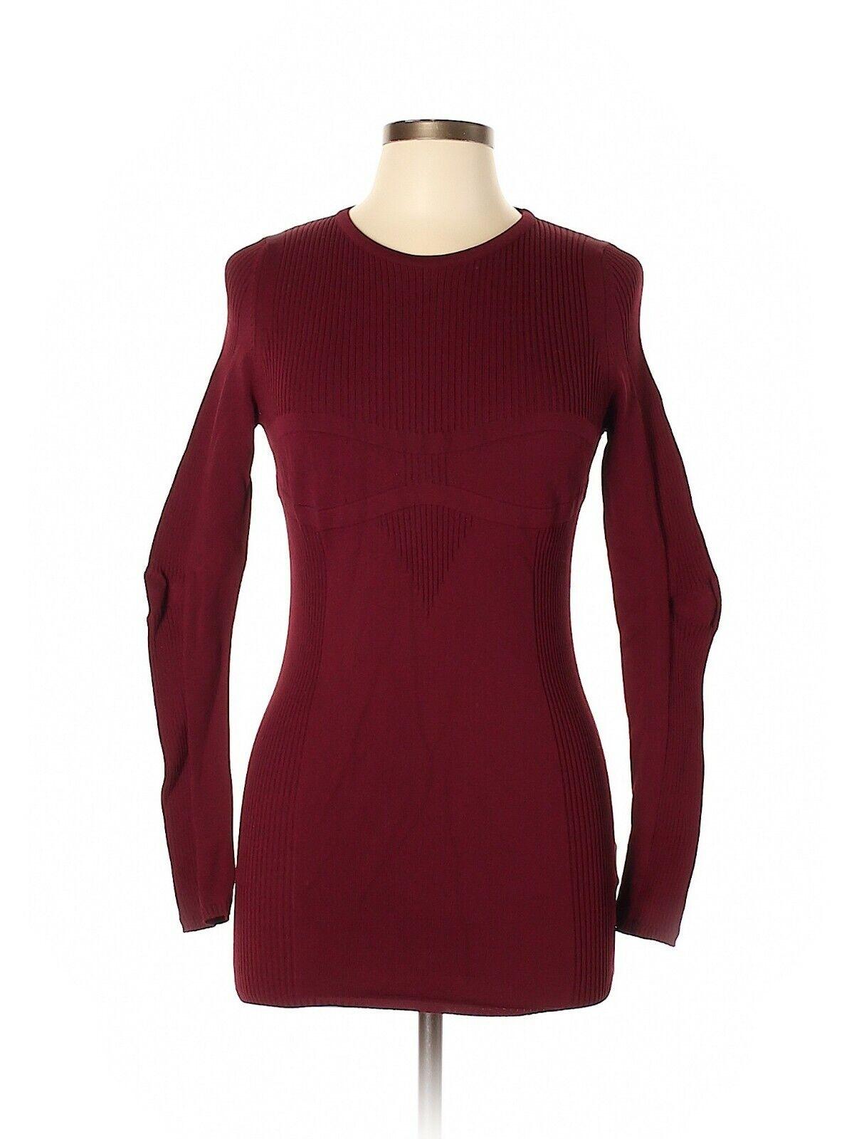 Maison Martin Margiela Maroon Rib Knit Sweater, Size Large, NWT