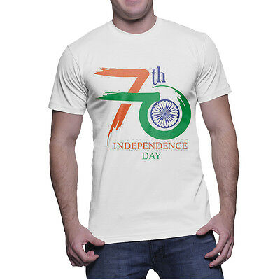 Tri Color 70 Freedom Independence Day Unisex Printed T Shirt Poly Cotton