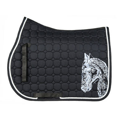 Cerca Voli Equiline Holly Octagone Saddle Cloth-black-schabracke-